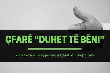 """Çfarë """"Duhet të bëni"""" kur shkruani blog për organizatat jofitimprurëse"""